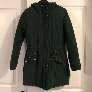 ONLY dark forest green coat